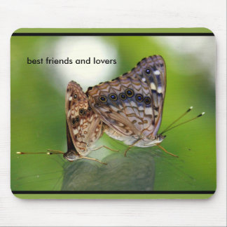 Butterflies Mating - Best Friends and Lovers Mouse Pad