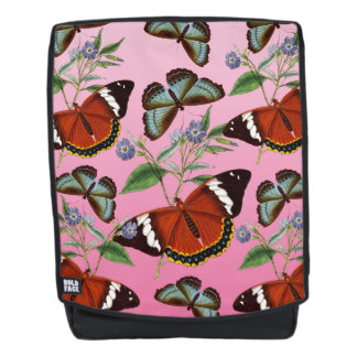 butterflies mix pink backpack