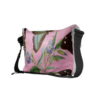 butterflies mix pink courier bag