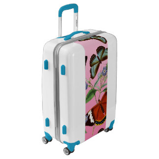 butterflies mix pink luggage