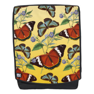 butterflies mix yellow backpack