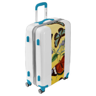 butterflies mix yellow luggage
