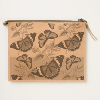 butterflies mix yellow travel pouch