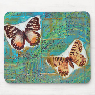 Butterflies Mixed Media Collage Mousepad