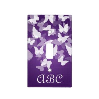 Butterflies Monogram Purple Light Switch Cover