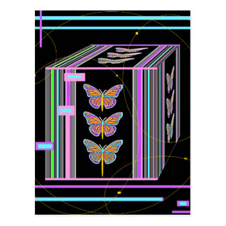 Butterflies Morphing Box Design by Sharles Postcard