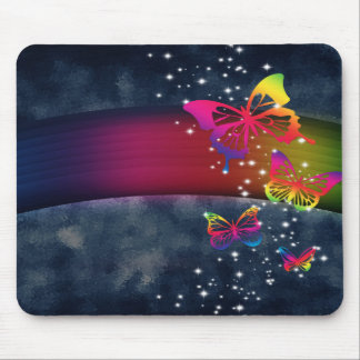 Butterflies n Rainbows Mouse Pad