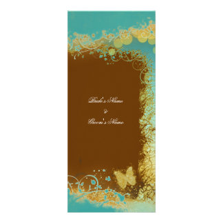 Butterflies n teal wedding theme - Create your own Announcements