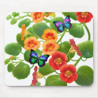Butterflies & Nasturtiums Mousepad