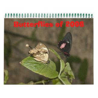 Butterflies of 2008 calendar