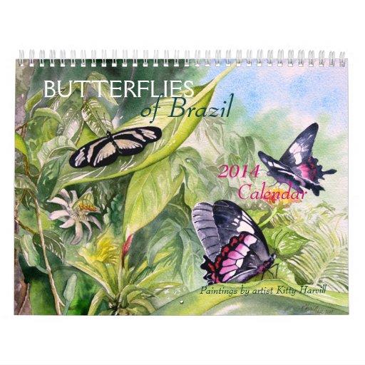 BUTTERFLIES of Brazil 2014 Calendar