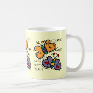 BUTTERFLIES OF LOVE AND PEACE COFFEE MUG