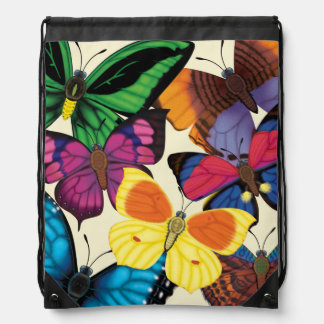 Butterflies of the World Drawstring Backpack