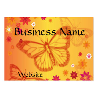 Butterflies on a Floral Background Business Card
