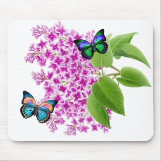Butterflies on a Lilac Bush Mouse Pad