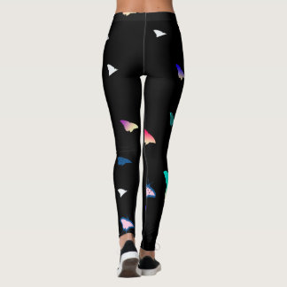 Butterflies on Black Leggings