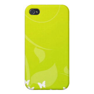 Butterflies on Green and Yellow  iPhone 4 Cover