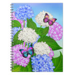 Butterflies on Hydrangea Garden Flowers Notebook