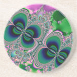 Butterflies on Parade Fractal Beverage Coaster
