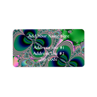 Butterflies on Parade Fractal Personalized Address Labels