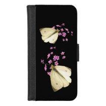 Butterflies on Pink Flowers iPhone 8/7 Wallet Case