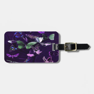 Butterflies On Purple Bag Tag