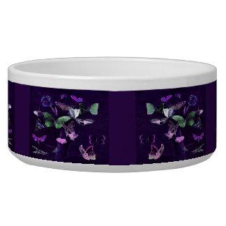 Butterflies On Purple Bowl