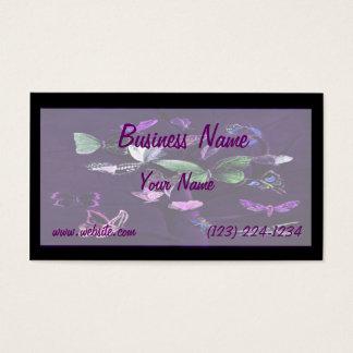 Butterflies On Purple Business Card