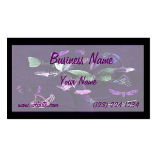 Butterflies On Purple Double-Sided Standard Business Cards (Pack Of 100)