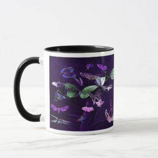 Butterflies On Purple Mug