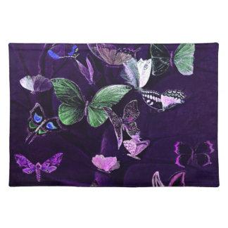 Butterflies On Purple Placemat