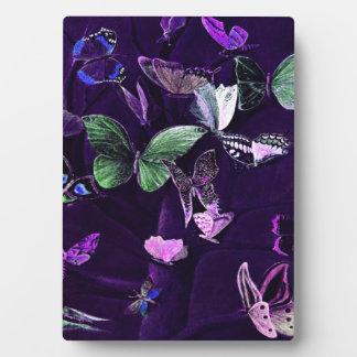Butterflies On Purple Plaque