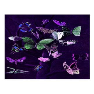 Butterflies On Purple Postcard