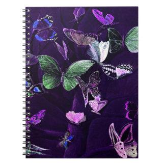 Butterflies On Purple Spiral Notebook