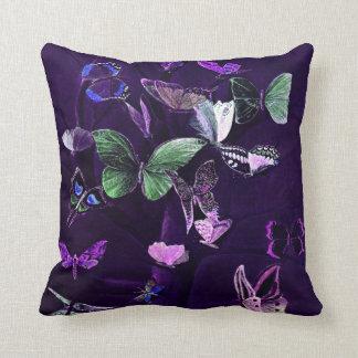 Butterflies On Purple Throw Pillow