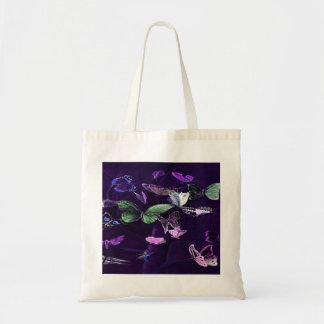 Butterflies On Purple Tote Bag