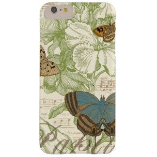 Butterflies on Sheet Music with Floral Design iPhone 6 Plus Case