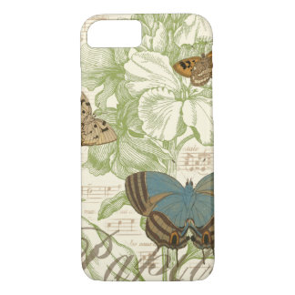 Butterflies on Sheet Music with Floral Design iPhone 8/7 Case