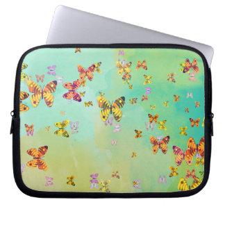 Butterflies on springtime laptop sleeve