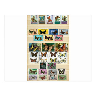 Butterflies on stamps 2 postcard