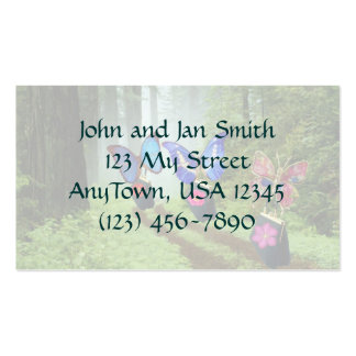 Butterflies on The Move Double-Sided Standard Business Cards (Pack Of 100)