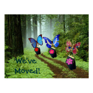Butterflies on The Move Postcard