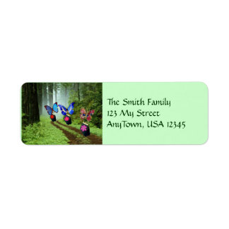 Butterflies on The Move Return Address Label