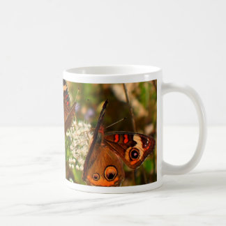 Butterflies on White Flowers Coffee Mug