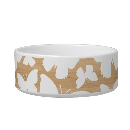 Butterflies on wood photo modern butterfly pattern bowl
