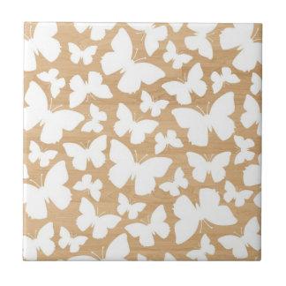 Butterflies on wood photo modern butterfly pattern ceramic tile