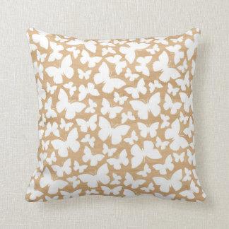 Butterflies on wood photo modern butterfly pattern throw pillow