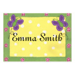 Butterflies on Yellow, Name Card Business Card Template