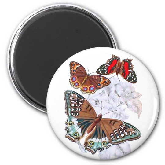 Butterflies - Orange and Brown Magnet