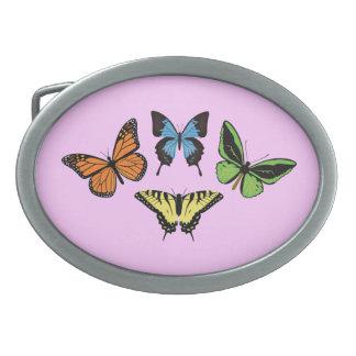 Butterflies Oval Belt Buckle